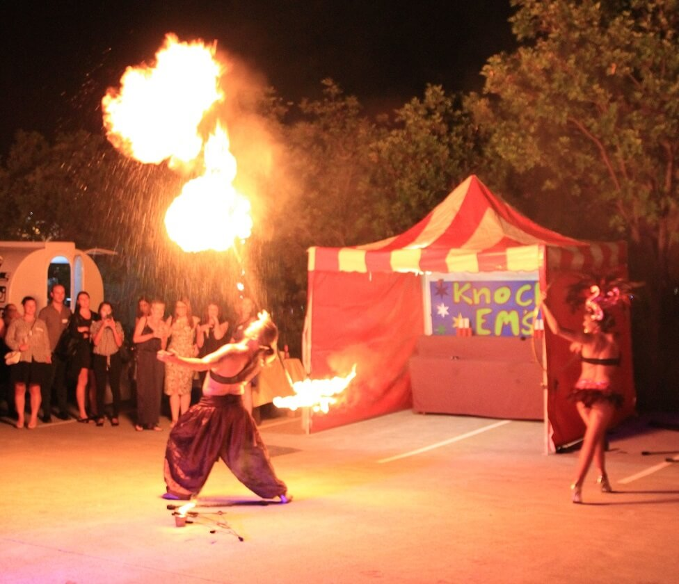 Fire breather at HTG Event