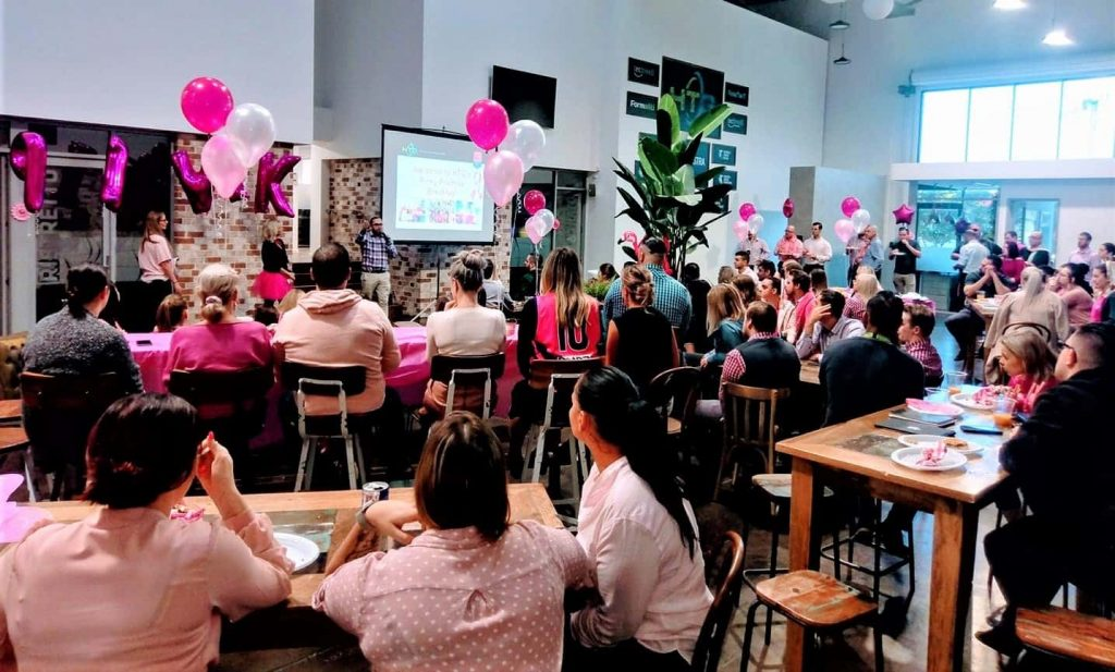 HTG Pink Breakfast Launch